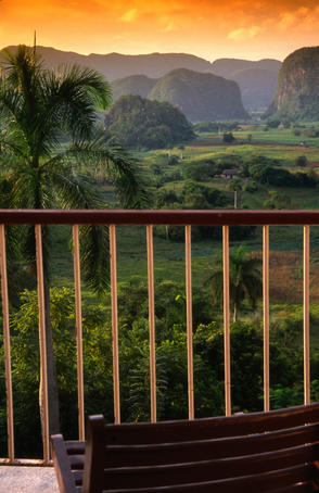 Vinales valley in Pinar del Rio from lookout.