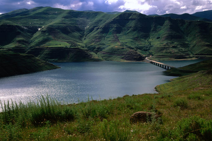 Katse Dam Bridge in the Lesotho highlands.