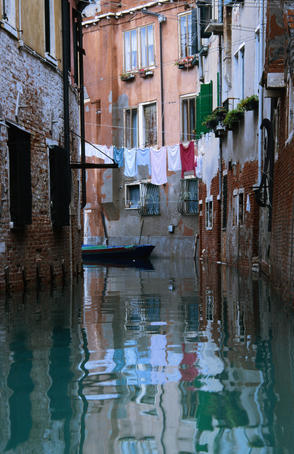 Streets and canals of Venice.