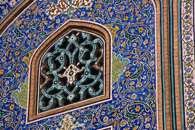 Beautifully detail mosaics on the Masjed-e Sheikh Lotfollah in the Emam Khomeini Square.