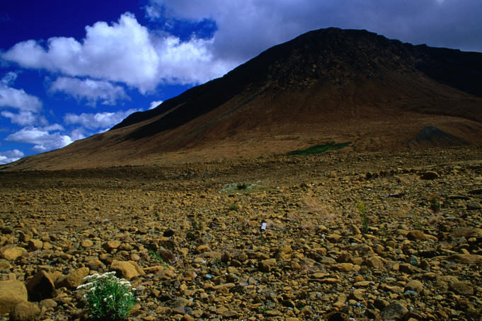 The ancient Tablelands landscape of UNESCO declared World Heritage Site, Gros Morne National Park.