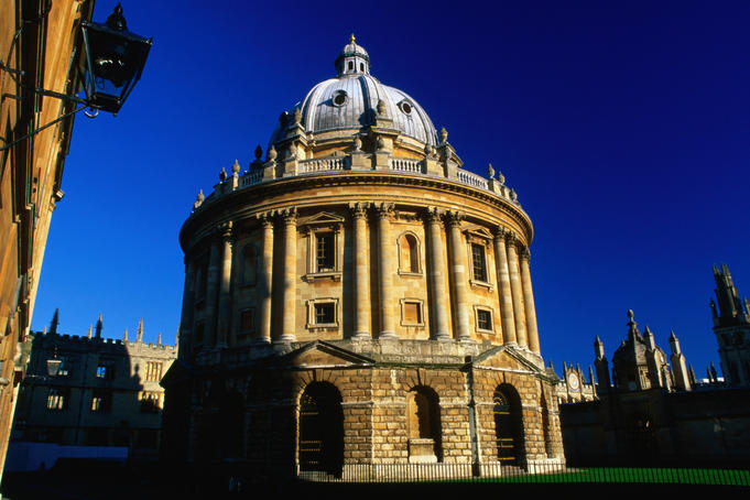 Radcliffe Camera, the spectacular circular library built in the Palladian style in 1748 at Oxford.