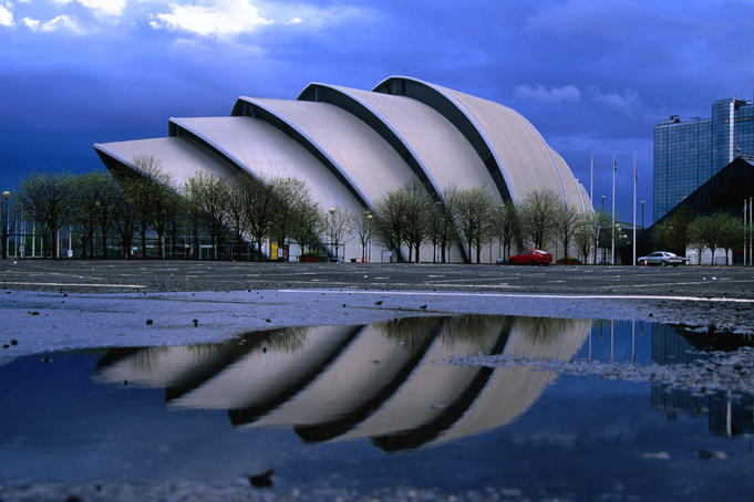Clyde Auditorium in Glasgow, known as the 'Armadillo'