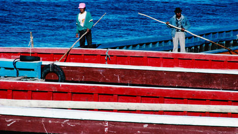 Ferrymen, Lake Titicaca