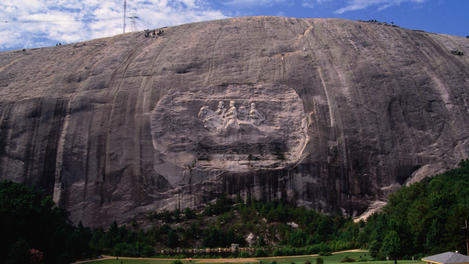 Rock carving, Atlanta