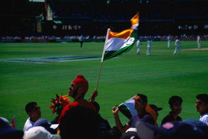Off field scenes during the 2000 New Years Day Test Match between Australia and India at the Sydney Cricket Ground (SCG).