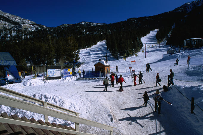 People at Mt Charleston Ski Area.