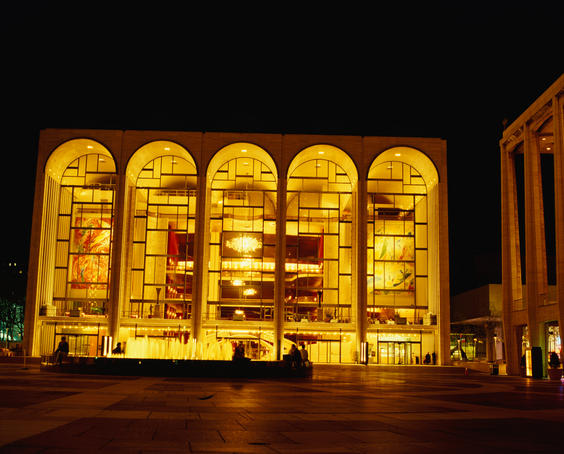 The Metropolitan Opera House in the Lincoln Centre, New York. The Met was opened in 1883 and remains one of the countries best and most famous houses today.