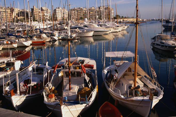 Boats in Piraeus Marina.
