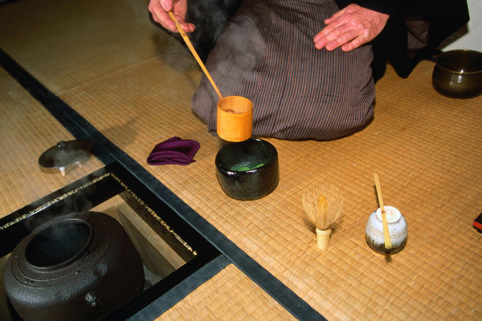 Soren Bisgaard, a master of the Japanese tea ceremony, Kyoto