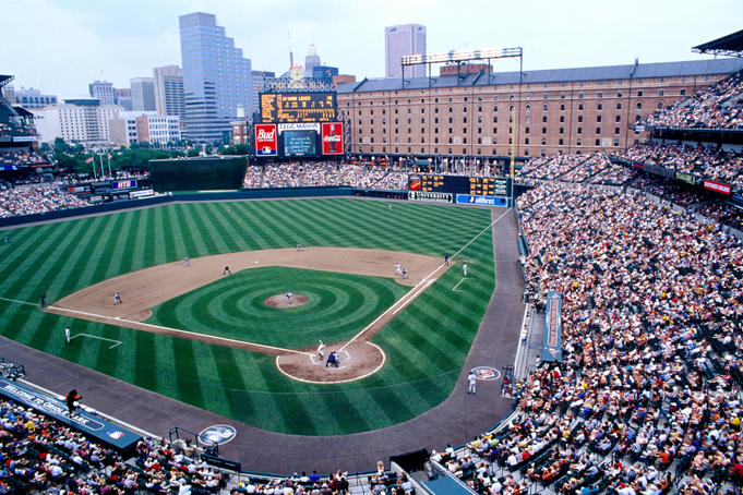 Baseball at Oriole Park at Camden Yards.