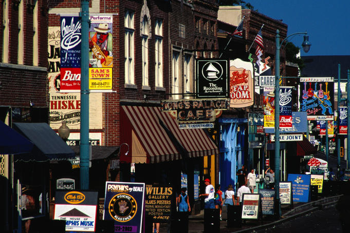 Shops on Beale Street.