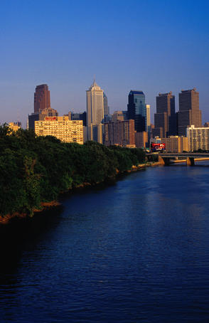 City and Schuylkill River.