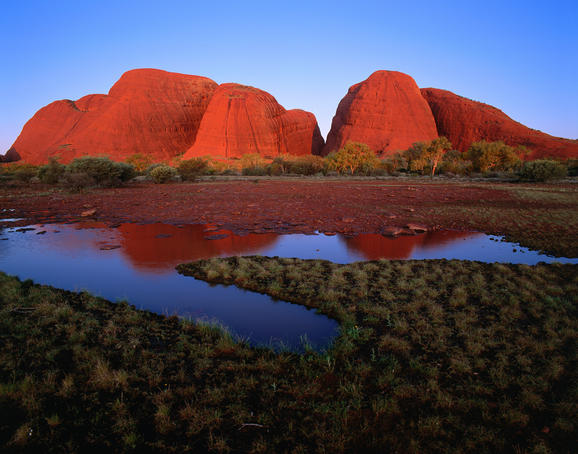 Kata Tjuta (The Olgas) at sunset.