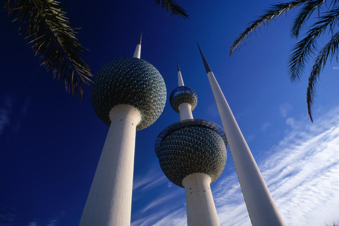 Kuwait Towers, water reservoirs.
