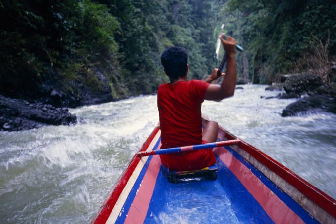 Shooting the rapids of the Pagsanjan River