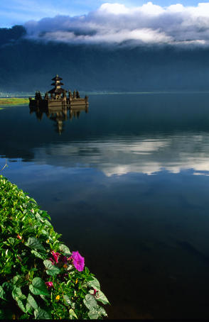 Part of Ulun Danu temple on Lake Bratan.
