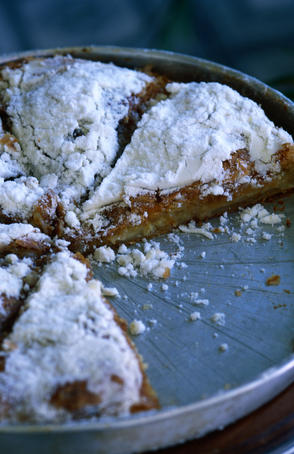 Bougatsa (custard pie).