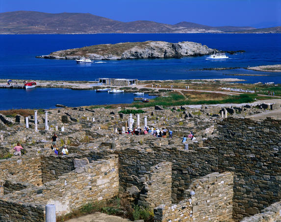 The ruined city-state of Delos.