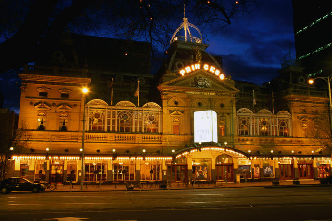 Evening sees the Princess Theatre light up for another show.