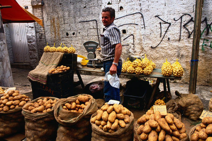 Potatoes for sale at a Street Market - Sao Paulo, Sao Paulo