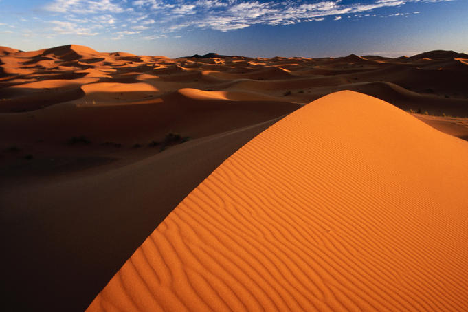 Erg Chebbi, (The Dunes of Merzouga) on edge of the Sahara Desert