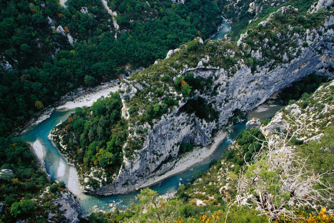 The Gorges du Verdon in Provence. The Grand Canyon of Europe.