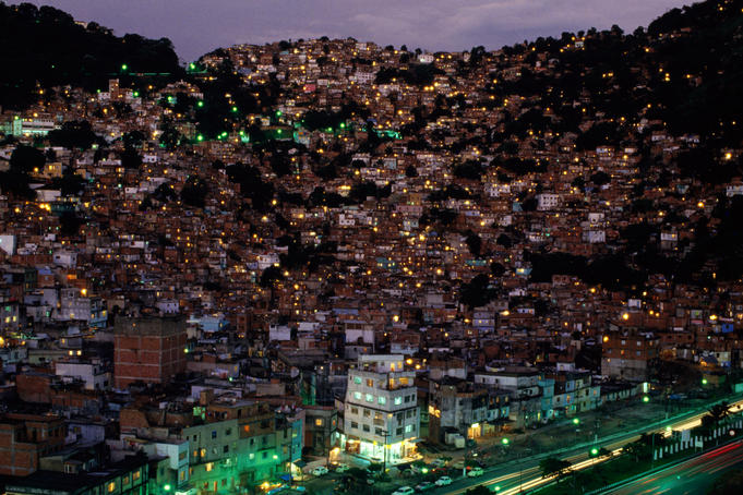 Rocinha is home to 150,000 people, the largest favela (slum).