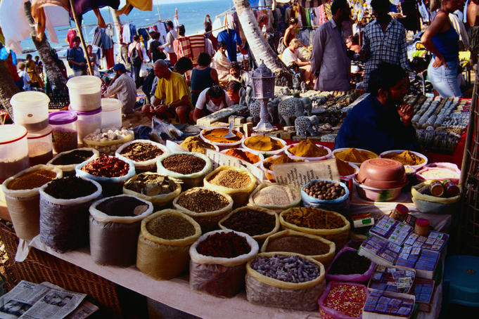 Bags of spices for sale at Anjuna's famous Wednesday flea market - Anjuna, Goa