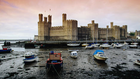 Historic Caernarfon Castle, Wales