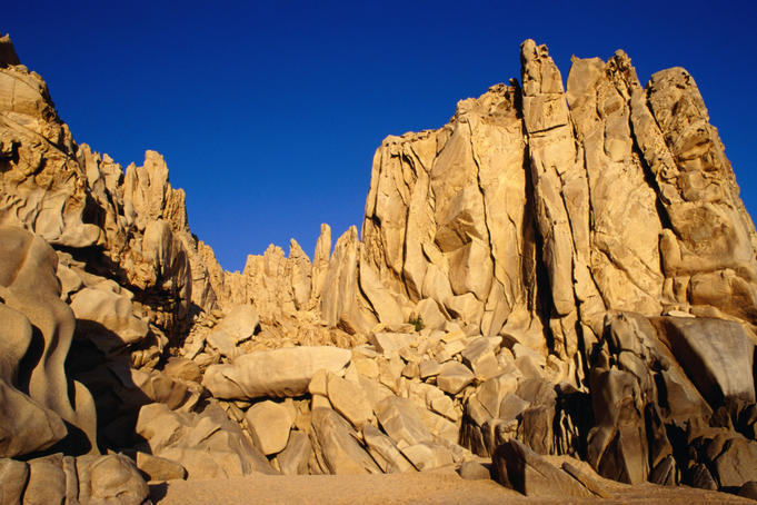 Rock formations near Lover's Beach in Cabo San Lucas.