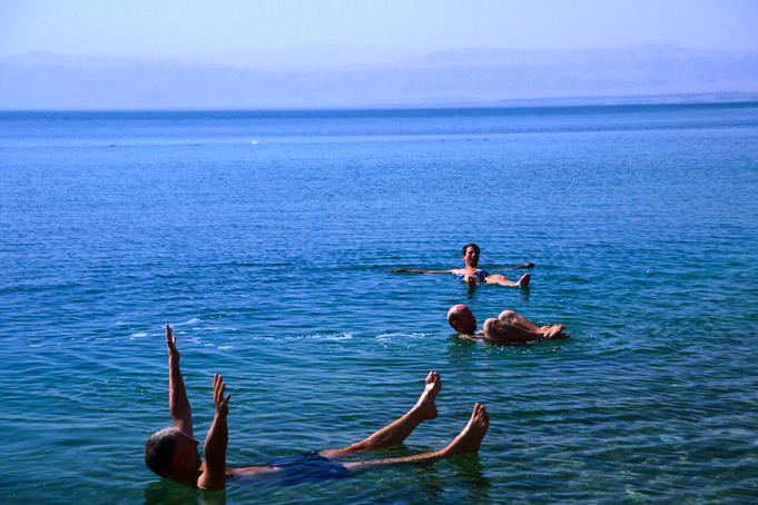 Floating like a cork in the salty water of the Dead Sea is a memorable experience.