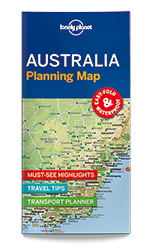 Australia Planning Map Lonely Planet Shop - Argentina map lonely planet