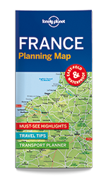 France Planning Map, 1st Edition Jun 2017 by Lonely Planet